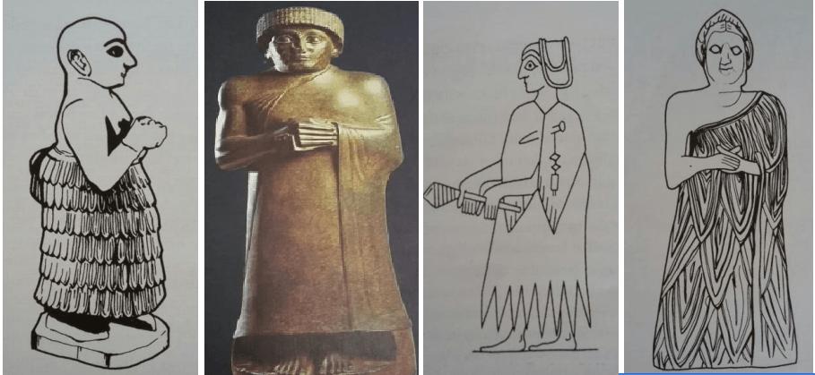 Eski uygarlıklardan bazı giyim kuşam görüntüleri